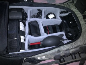 Packed F-stop camera bag